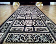Seiden Teppich Design Schwarz 400x80 medusa versac Perser Orient barock Läufer