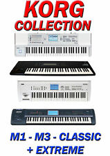 KORG M1, M3, TRITON CLASSIC + EXTREME SAMPLE COLLECTION **ALL IN WAV FORMAT**