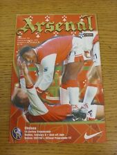 08/02/1998 Arsenal v Chelsea  (Excellent Condition)