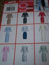 BUTTERICK #6870 - LADIES ELEGANT DAY or EVENING SKIRT & TOP PATTERN  8-12 uc