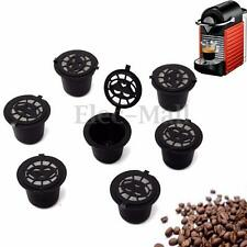 7 Refillable/Reusable Coffee Capsules Pod For Nespresso Stainless Steel Filters