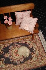 """Lot of 2 -  1 1/2 """" Throw Pillows Dollhouse Pink 1:12 Scale"""
