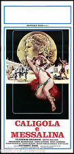 CALIGOLA E MESSALINA LOCANDINA CINEMA FILM EROTICO SEXY MOVIE PLAYBILL POSTER