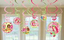 Strawberry Shortcake Swirl Decorations For Birthday Party Supplies Favor Pack