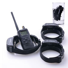 1000M Waterproof &Rechargeable Beep/Shock Dog Training Collar For 3Dogs With Box