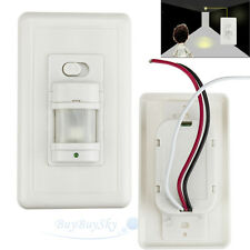 Automatic PIR Motion Sensor Occupancy Switch W/ Manual On/Off Option White