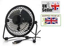 USB Powered Mini Portable Desktop Cooling Desk Fan For Computer Laptop - Metal