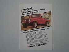 advertising Pubblicità 1982 JEEP CJ-7