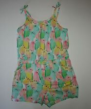 New H & M Multi-Color Summer Parrot Romper Outfit Size 4-6 Year NWT Bird