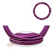 Purple Aluminum Craft Wire Wrapping 12 Gauge Sculpture 39 Ft. Floral Jewelry