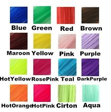 """22"""" Hair Extensions Neon Clip In Long Synthetic Rainbow Highlight Cosplay Color"""