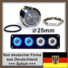 Taster 25mm LED weiß, Vandalensicher, Hupe, Edelstahl, mit Dichtung+Mutter