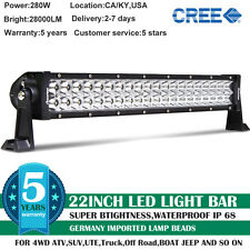 22inch 280W CREE COMBO LED Work Light Bar Offroad Driving Lamp SUV Car Boat 4WD