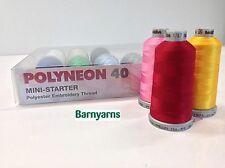 Madeira Polyester 40 - 10 Colour Mini Starter Kit Machine Embroidery Thread