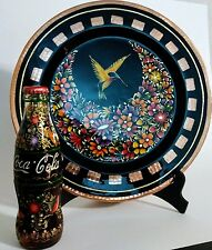 Bottle Coke. Coca Cola. With hummingbirds & butterfly. Combo Plate COLLECTIBLE