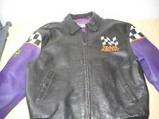 Mens Leather Team Arctic Cat Leather Racing Snowmobile Jacket LARGE