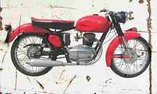 Gilera 175Sport 1956 Aged Vintage SIGN A4 Retro
