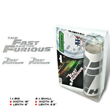 VINYL 3PC SILVER THE FAST AND THE FURIOUS WINDSHIELD BANNER DECAL STICKER F&F F7