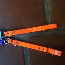 DOG COLLAR BRIGHT NEON ORANGE WATER PROOF HUNTING LARGE XL L NEW HYPER PET