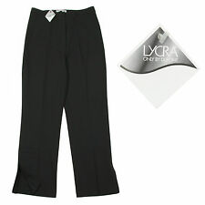 BNWT CLASSY BLACK STRETCHY MATERIAL SPLIT LEG DETAIL EVENING TROUSERS SIZE 10