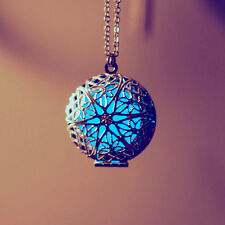 Beauty Luminous Glow In The Dark Hollow Round Pendant Necklace Jewelry Gifts