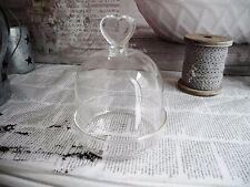 Campana Di Vetro & Piatti Cupola Stile Nostalgico Shabby Chic Vintage 1325