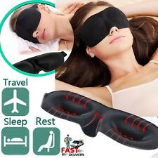 3D Soft Sponge Sleeping Sleep Aid Eye Mask Blindfold Shade Plane Blackout UK