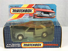 1990 Matchbox Super Kings K115 Mercedes Benz 190e 2-3 16V Detail Diecast Car NIB