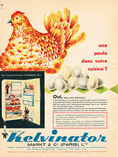 PUBLICITE ADVERTISING  1955   KELVINATOR     réfrigérateur