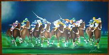 Spahn Victor lithographie signée numérotée sport course hippique chevaux
