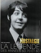 Publicité Advertising 2011  Radio NOSTALGIE  Paul Mc CARTNEY