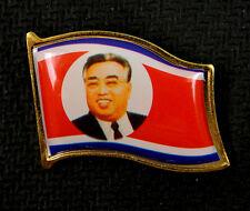 North Korea Kim Il-sung Lapel Pin