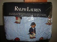 RALPH LAUREN Polo TEDDY BEAR PREMIUM FULL FITTED Cotton NIP Deep Fitted SHEET