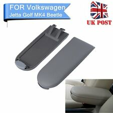 Grey Leather Center Console Armrest Cover Lid Fit VW Jetta Golf MK4 Beetle