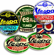 VESPA  STICKER PACK 2, SELF ADHESIVE + FREE ROUNDEL UNION JACK STICKER!