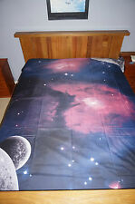 Galaxy 3D Bedding Set Universe Outer Space Themed Print Duvet cover Queen