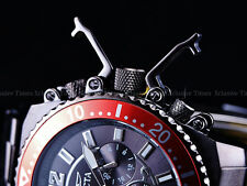 Invicta Men 48mm STEALTH GUNMETAL Pro Diver Stingray Wing VD54 Chrono SS Watch