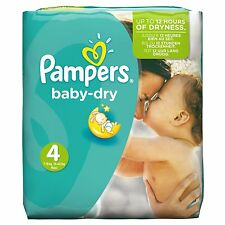 Pampers Baby Dry Size 4 Maxi Monthly Pack - 174 Nappies Free Shipping Brand New