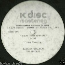 """PATRICK WILLIAMS Theme From M.A.S.H. 12"""" ACETATE US 1983 Soul JAZZ-FUNK"""