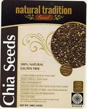 NATURAL TRADITION Black CHIA seed 12 oz. 100% Natural