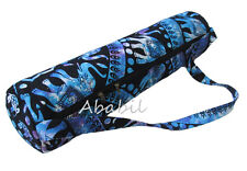 Tie Dye Cotton Indian Handmade Mandala Yoga Mat Carrier Bag with Shoulder Strap