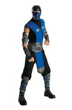 FANCY DRESS COSTUME ~ MENS MORTAL COMBAT DELUXE SUB ZERO STD