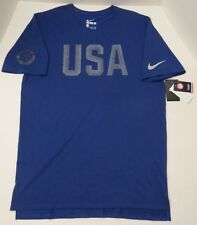 Nike 2016 Team USA T-Shirt 801149 451 ROYAL BLUE *SAMPLE* RARE COLOR (MEN'S L)