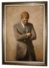 Shikler Portrait of President John F Kennedy 1970 -Antique Gold Framed 23.5x32.5