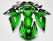 Green Plastic Bodywork Fairing Kit For Kawasaki NINJA ZX-14R 2012-2015 13 ZX14R