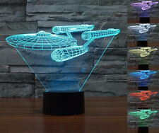 Star Trek USS Enterprise 3D LED Night Light 7 Color Touch Switch Table Lamp SR1G
