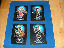 1996 Warriors of Virtue Set of 4 Target Promo Cards Yun, Tsun, Lai & Chi NRMT-MT
