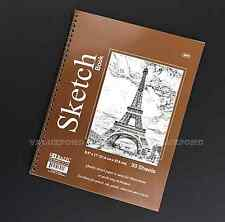 "30 Sheets 8.5"" X 11"" Side Bound Spiral Premium Sketch Book Paper Pad NEW (E10)"