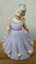 Antique Heubach Girl Easter Egg Bisque Figurine Figure Doll