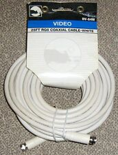 Black Point BV-84W Video 25-FT RG6 Coaxial Cable with Fittings, White New